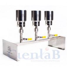 Conjunto de Filtração Manifold 3 Provas Com Holder de Inox