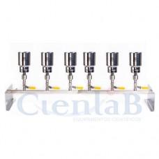 Conjunto de Filtração Manifold 6 Provas Com Holder de Inox