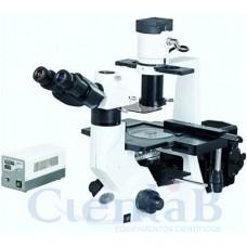 Microscópio Biológico Trinocular Invertido Com Fluorescência