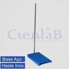 Suporte Universal Base de Aço e Haste de Aço Inox 304