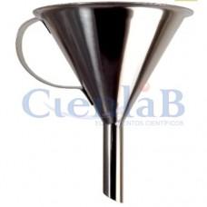 Funil Aço Inox 304    250mL - Com Alça
