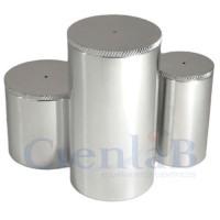 Picnômetro com tampa - Aço Inox -  50mL