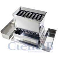 Quarteador de Amostras - Aço Inox -  8 planos de 13mm