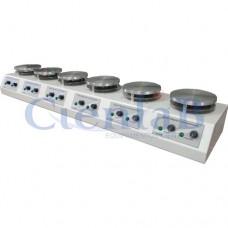 Bateria de Agitador Magnético com Aquecimento, 6 Provas (10 litros cada)
