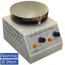 Agitador Magnético  com Aquecimento, Plataforma Alumínio 20cm, 20 litros