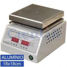 Agitador Magnético com  Aquecimento Digital Microprocessado - Alumínio