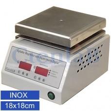 Agitador Magnético com  Aquecimento Digital Microprocessado - Inox