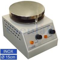Agitador Magnético  com Aquecimento, Plataforma Inox15cm, 15 litros