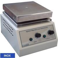 Agitador Magnético  com Aquecimento, Plataforma Quadrada de INOX 18x18cm, 15 litros