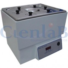 Banho Maria Com 4 Bocas e Anéis Redutores Digital Microprocessado