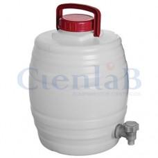 Barril D'Água Graduado Com Tampa e Torneira 15 litros