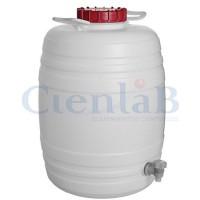 Barril D'Água Graduado Com Tampa e Torneira 30 litros