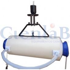 Garrafa de Van Dorn de PVC 2 litros - Horizontal