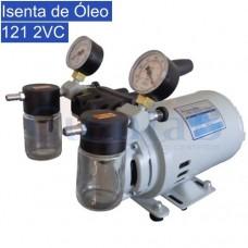 Bomba de Vácuo e Compressor - Isenta de Óleo