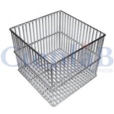 Cesto Quadrado ou Retangular em Aço Inox 15x15x15cm