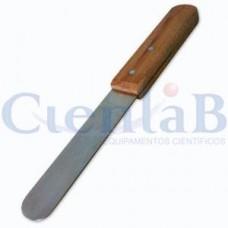 Espátula Com Cabo de Madeira e Lâmina em Aço Inox  75mm