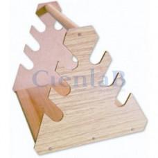 Suporte Triangular de Madeira Para Pipetas
