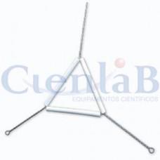 Triângulo de Arame com Porcelana  3cm