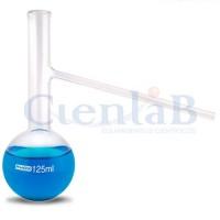 Balão de destilação com fundo redondo e saída lateral - Borossilicato, capacidade   50ml