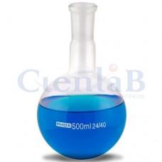 Balão com fundo redondo - Junta 24/40 - Borossilicato, capacidade   50ml