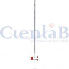 Bureta com torneira de Teflon - Bocal com funil, capacidade  10ml