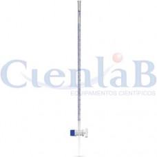 Bureta com torneira de vidro - Bocal simples, capacidade  10ml