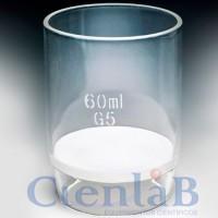 Cadinho de vidro com placa porosa Nr.01 grossa, capacidade 30ml (Cadinho de Gooch)