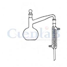 Aparelho  Para Destilação de Água Completo (balão e condensador de 200mm),  500 ml