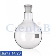 Balão com fundo redondo - Junta 14/20 - Borossilicato, capacidade   5 mL
