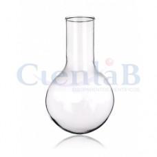 Balão com fundo redondo - Sem junta - Borossilicato, capacidade    50 mL